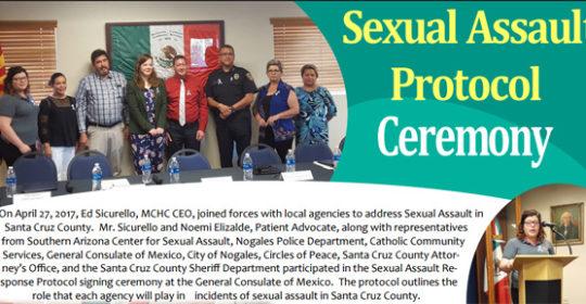 Sexual Assault Protocol Ceremony