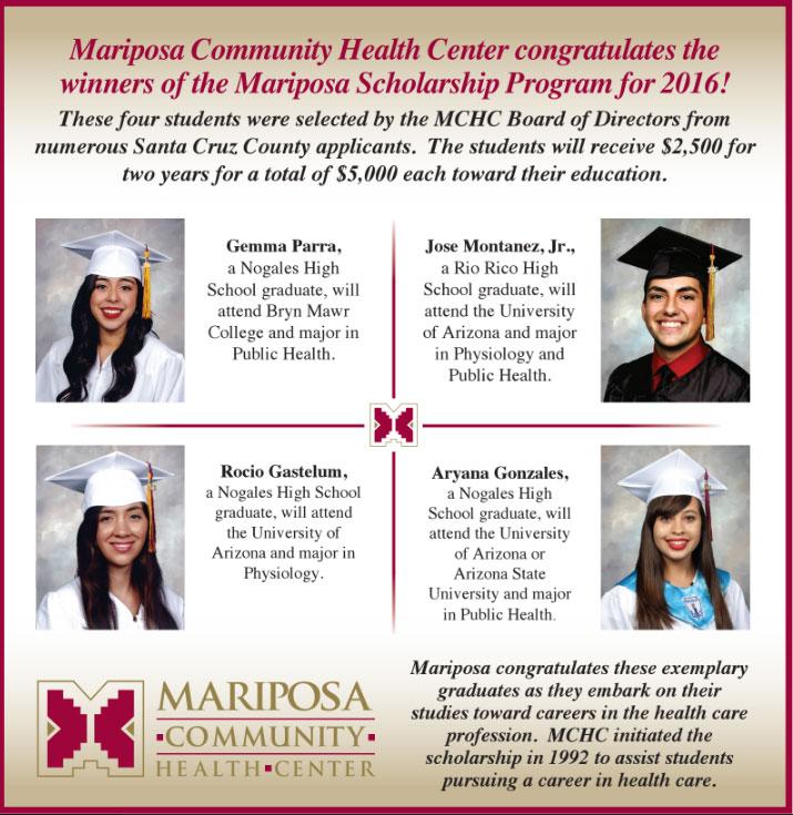Mariposa Community Health Center Scholarship Awards