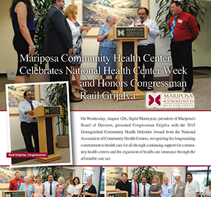 MCHC Celebrates National Health Center Week and Honors Congressman Rául Grijalva